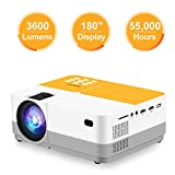 """TUREWELL H3 Projector Video Projector 3600 Lumens Native 720P LCD Mini Projector 180"""""""