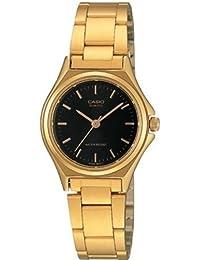 CASIO LTP-1130N-1A - Reloj con correa de acero inoxidable, para mujer, color negro y dorado