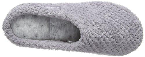 Isotoner Ladies Popcorn Mule Slippers, Pantofole Donna Grey (Pale Grey)