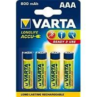 Rechargeable Power Accu R2Use AAA LR3 (Micro) 4er-Pack 800mAh Akku