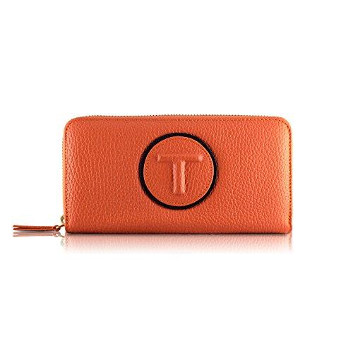 Tressette Exklusive Damen-Geldbörse Italienisches Leder (Damen Brieftasche Französisch Geldbörse)