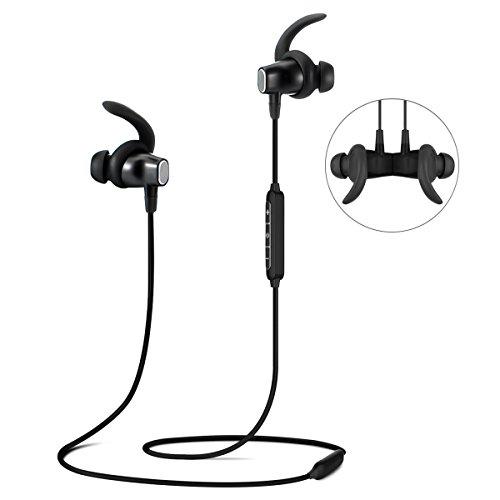 Bluetooth Kopfhörer, ELEGIANT 4.1 In Ear Kopfhörer Wireless IPX4 spritzwasserfest Sport Headset kabelos Magnetisch Stereo Kopfhörer Ohrhörer Headphones bis zu 8 Stunden Spielzeit Ergonomisch gewinkelte Ohrstöpsel mit Mic für Joggen Workout Fitness kompatibel mit ios iPhone 8 7 6s 6 Plus Samsung S8 5S 5 5C Galaxy S6 S7 Edge S5 S4 Mini Nexus HTC Android MP3 und andere Bluetooth Geräte