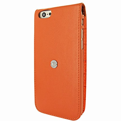 "Piel Frama ""Classic Leder Schutzhülle für Apple iPhone 6 Plus – Croco Braun Orange"