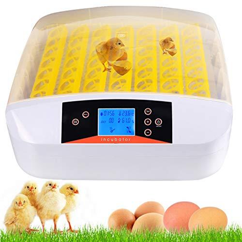 Bunao 56 Eier Inkubator Vollautomatische Brutmaschine Brutkasten Brutapparat Flächenbrüter Automatische Geflügel Brüter Brutmaschine Inkubation (56) - Automatische Inkubator