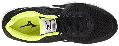 Mizuno Spark, Scarpe da Corsa Uomo Multicolore (Black/White/Safety Yellow)