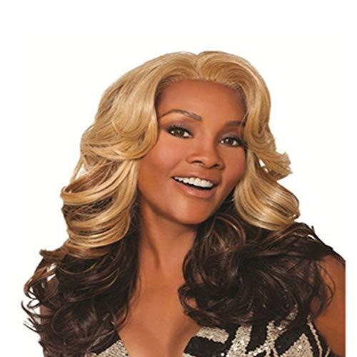 Perücke Ms Kopfbedeckung Lange lockige Haare Große Welle mehrere Farbe 65cm