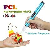 3D Stifte Set für Kinder, niedrige Temperatur 3D Pen, sicher für Kinder, Erwachsene und Bastler zu basteln und 3D drücken (nur kompatibel mit PCL Filament,Nicht kompatibel mit PLA und ABS)
