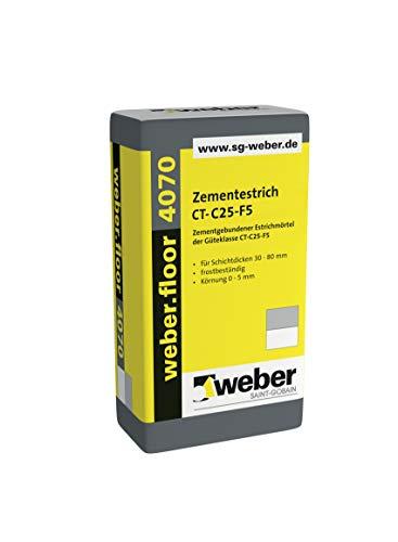 weber.floor 4070 Zementestrich CT-C25-F5 Estrich Zementestrich Estrichmörtel 40 kg