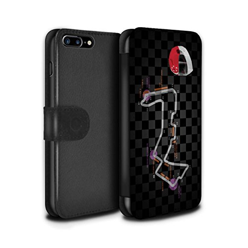 Stuff4 Coque/Etui/Housse Cuir PU Case/Cover pour Apple iPhone 8 Plus / Singapour Design / 2014 F1 Piste Collection Singapour