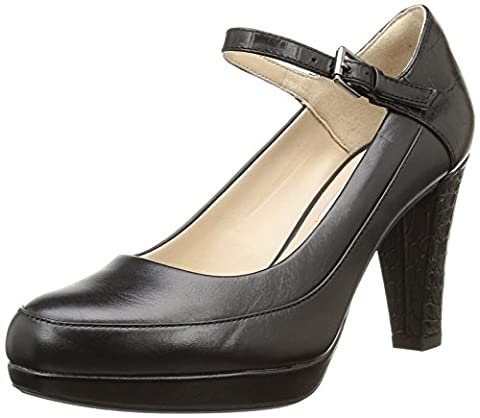 Clarks Kendra Dime, Women's Ankle Strap Pumps, Black (black Combi Leather), 7 UK, 41 EU