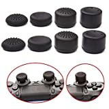 #8: Microware Pack of 8 pcs Analog Controller Gamepad Raised Antislip Thumb Stick Grips Thumbsticks Joystick Cap Cover for PS4, PS3, Switch Pro, Xbox one, Xbox 360, Wii U, PS2 Controller (Black)