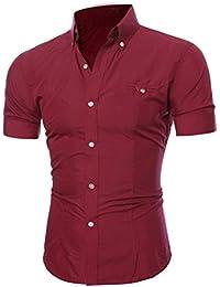 12074469ff490 ❤️OHQ Camisa De Blusa De Hombre Camiseta De Manga Corta para Hombres  Camiseta De Manga