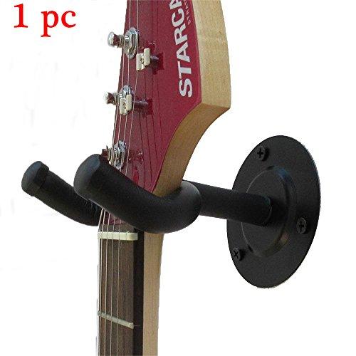 Malayas® Gitarre Wandhake Verstellbar Justierbar Gitarre Wandhalterung für Akustikgitarre und E-Gitarre Bass