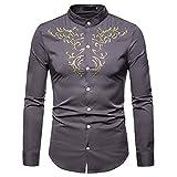 Herren Pullover,TWBB CardiganShirt Stickerei Mehrere Farben Sweatshirt Oberteile Schlank Casual Lange Ärmel Männer Hemd