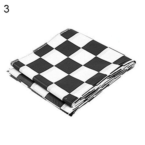 Rycnet Zweifarbige Einweg-Tischdecke mit Gittermuster Schwarz/Weiß