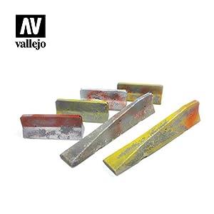 Vallejo SC228 1/35 - Barrera de hormigón, 6 Piezas, Diferentes