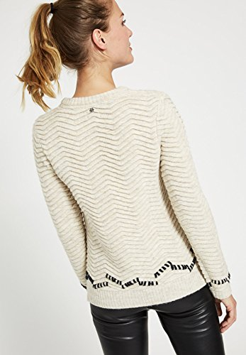 khujo - Pull - Manches Longues - Femme Small Weiß