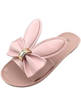 Omiky® Frauen Sommer Strand Schuhe Frau Hausschuhe Flat Heels Flip Flops Sandalen
