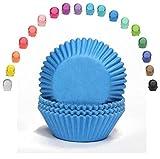 Miss Bakery's House Mini-Muffinförmchen Standard - Ø 32 mm x 20 mm - Blau - 200 Stück