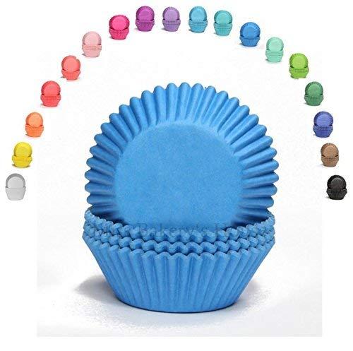 Miss Bakery's House® Mini Muffinförmchen Standard - Ø 32 mm x 20 mm - Blau - 200 Stück