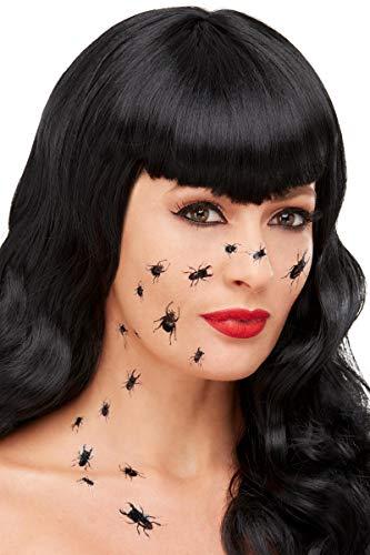 Horror-Shop Krabbelnde Käfer Hauttattoos 18 Stück als Make Up Idee für Halloween