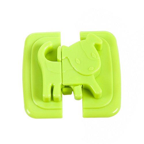 LIUYUNE,Kreative Baby Kabinett Verschluss Gürtel Kinder Sicherheitsschloss Baby Taste Kühlschrank Toilette Kleiderschrank Sicherheitsschloss Taste(color:GRÜN)