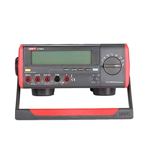UNI-T UT803 Digitales Tisch-Multimeter DC/AC-Spannungszähler Stromzähler Dioden-Dioden-Triodentester Multitester True RMS Bench Digital Multimeter