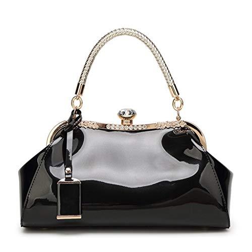 Women Handbag Shoulder Messenger Satchel Crossbody Ladies Tote Bag Patent Leather Evening Clutch Purse -