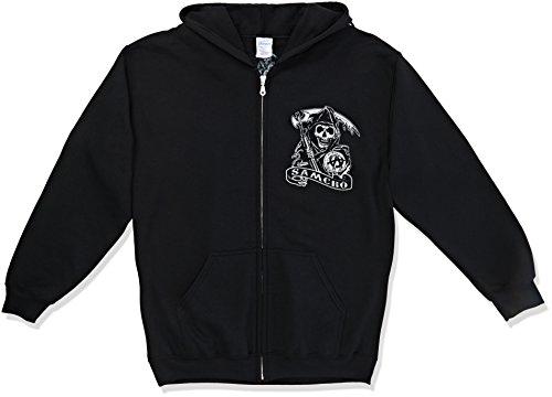CID Sons of Anarchy - Samcro-Pullover con cappellopuccio Uomo    Black Large