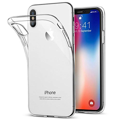 Zibnwee iPhone XS MAX Handyhülle, iPhone XS MAX Silikon Hülle, Crystal iPhone XS MAX Hülle Ultra Dünn Anti-Shock Soft TPU Bumper Schutzhülle für iPhone XS MAX Case Cover, Transparent - Soft Tpu Bumper Case