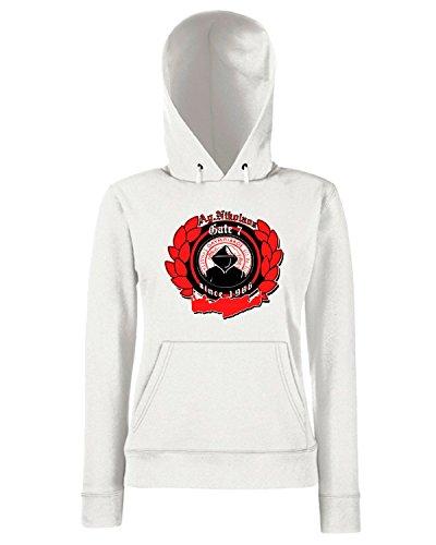 T-Shirtshock - Sweats a capuche Femme TUM0053 ultras olympiakos Blanc