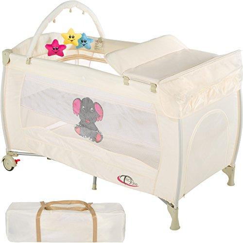 TecTake Kinder Reisebett höhenverstellbar mit Babyeinlage - diverse Farben -...