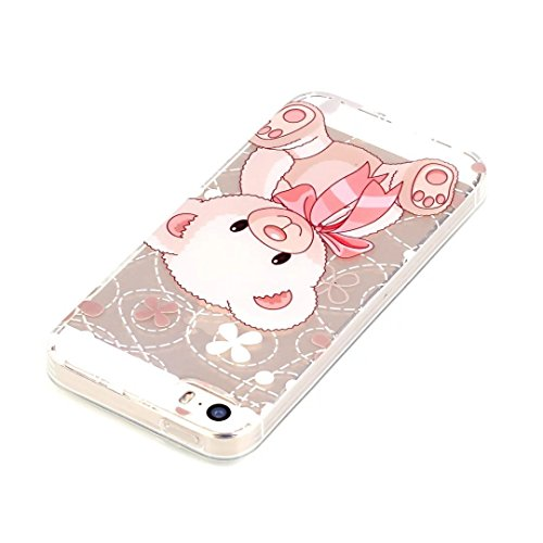 Vandot Ultra-thin Ultra-Light Mince TPU Silicone Gel Doux Etui Coque Housse Case Cover Couvrir Couverture Colour Printting Motif Housse Hull Coquille pour iPhone SE / iPhone 5 5S Effacer Clair transpa Motif-4