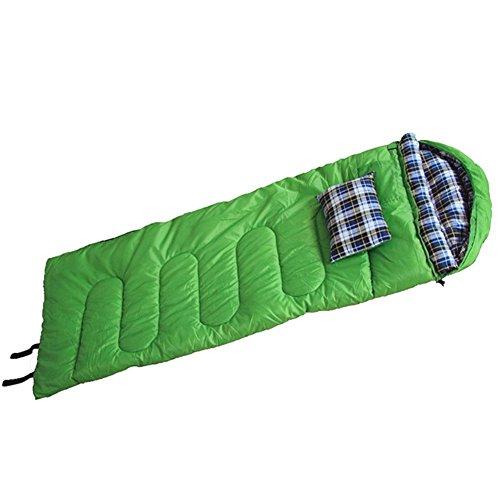 Honeystore Camping & Outdoor 210T Pongé Schlafsack-Deckenschlafsack (180+30)*75 CM Grün