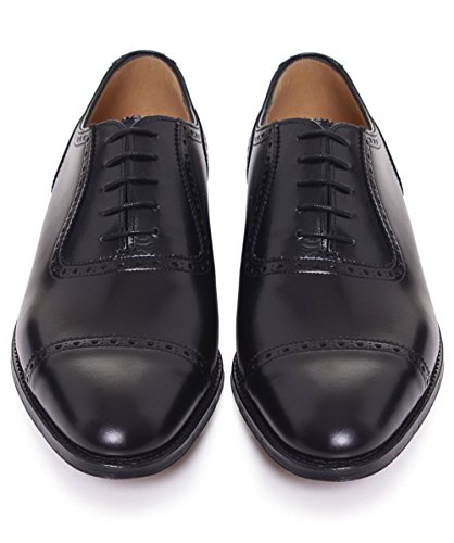 Cheaney and Sons Fenchurch Leather Oxford Shoes Noir Noir