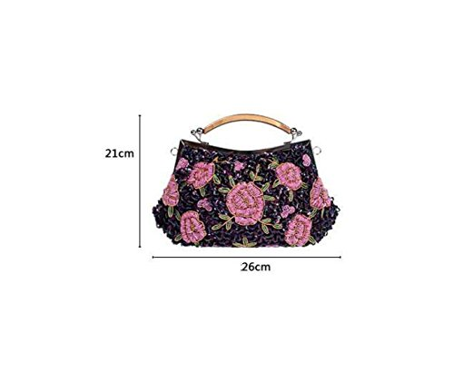 Vintage Handgemachte Blumen Zhuxiu Tasche Feinen Kleid Abendessen Tasche I