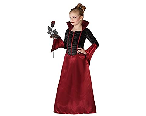 Déguisement vampire rouge et noir fille Halloween 5-6 ans (115/130