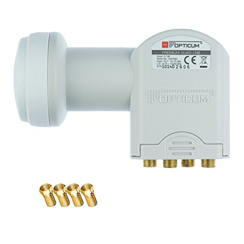 Quad LNB Opticum GOLD Premium 4 Teilnehmer LNB (GRATIS 4 F-Stecker)