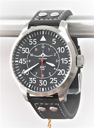 IMC Fliegeruhr Phantom Aviator Silber Armbanduhr Herren Männer Uhr Kampfflugzeug - Sonderedition (Radio Jet)