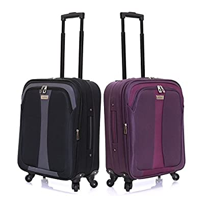 Slimbridge Andalucia 55cm Expandable Cabin Suitcase - inexpensive UK light shop.