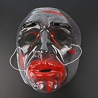 JIE Máscara de Carnaval de Halloween Cosplay Máscara de Plástico Máscara Transparente de Halloween,Seccion