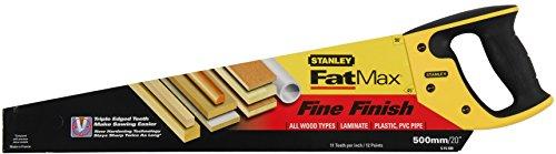 Preisvergleich Produktbild Stanley JetCut Handsäge fein (500 mm Länge, 11 Zähne/Inch, Bi-Material, Hardpoint-Verzahnung, 45°/90°-Anschlag) 2-15-599