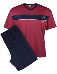Adamo XXL Pijama corto y cómodo burdeos-azul marino