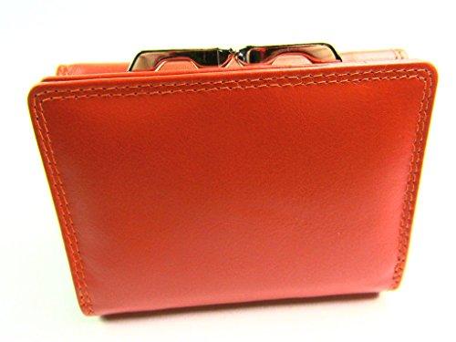 da donna di design Premium Alta Qualità Super morbido portafoglio di pelle portamonete - Rosso Arancione