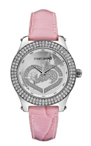Marc Ecko E10038M7 - Orologio da polso da donna, cinturino in pelle colore rosa