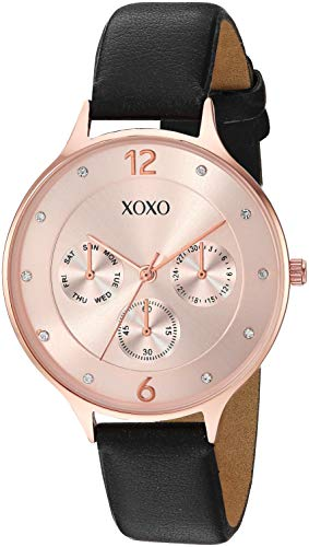 XOXO Women's Quartz Watch with Patent Leather Strap, Black, 14.8 (Model: XO3502) - Xoxo Frauen Watchs