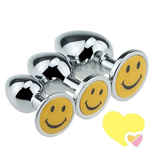 Styde Mädchen-Nette Lächeln-Gesicht-Silber-Dekoration für Frauen und Männer -