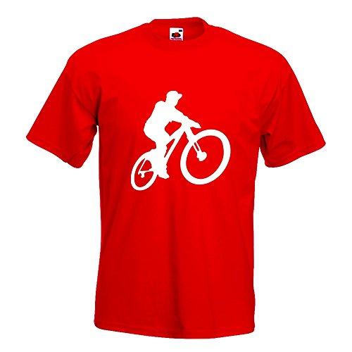 KIWISTAR - Mountainbiker MTB Downhill T-Shirt in 15 verschiedenen Farben - Herren  Funshirt bedruckt