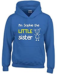 Direct 23 Ltd Personalised I'm The Little Sister Girls Hoodie