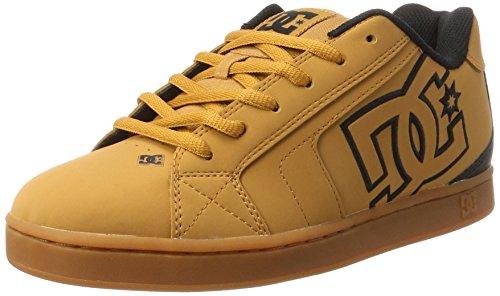 DC Shoes Net, Zapatillas para Hombre, Marrón (Wheat/Black/Dk Chocolate), 43 EU